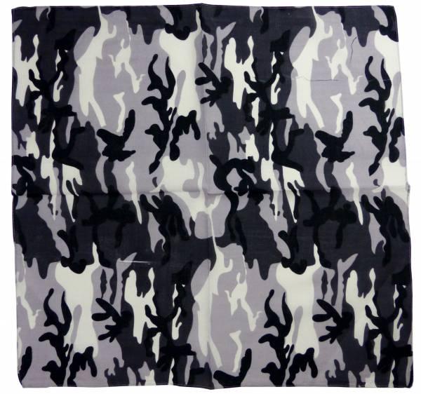 Nickituch Tarn-Muster schwarz Amarican-Camouflage Herren Damen Bandana-Tuecher mit Tarn-Motiv black Tuecher Design universal Tuch shawl-black pasly Kopftuch Scarf Halstuch Armband Nikituecher 55x55cm