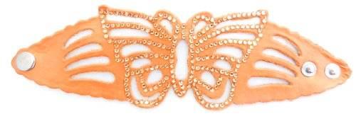 Damenarmband Schmetterling mit Strassbesatz VIELE FARBEN (koralle-orange)