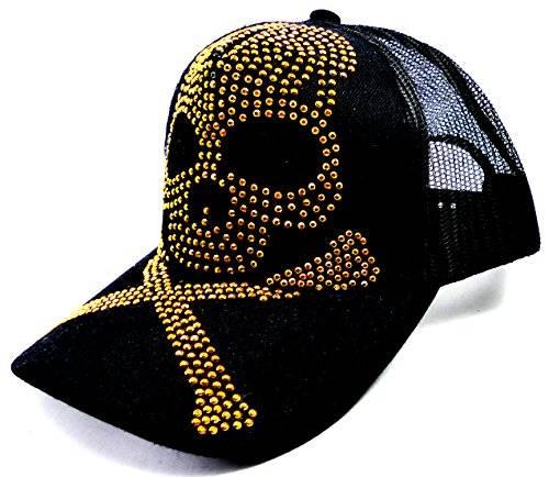 Ulimative Killer Cap Black Gold Totenkopf Schirmmütze Skull Caps