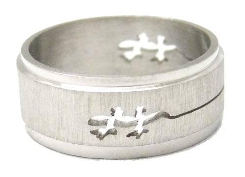 Ringe 2192 Designer Ring Edelstahl Finger-Ring viele Größen und Designs (19, echse)
