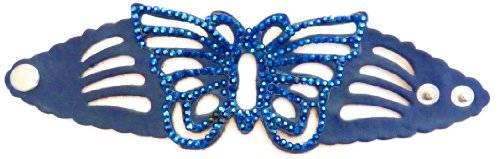 Damenarmband Schmetterling mit Strassbesatz VIELE FARBEN (blau)