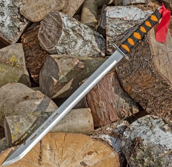 Machete XXL Messer Outdoor Combat Knife Ninja-Schwert silber 70cm