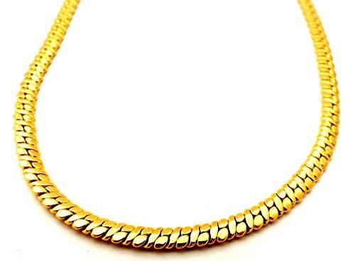 Halskette Damen Herren Fasching Schmuck Hip Hop Gangster Goldkette Panzerkettend 5mm - 3333