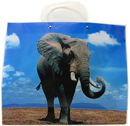 Tasche 2483 3D Einkaufstaschen Safarie Tragetaschen Einkaufstaschen tolle Taschen mit Aufdruck (Elefant)