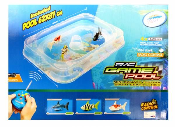 Kinder Spielzeug Pool Hai Fisch Set Ferngesteuert