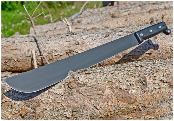 Outdoor Machete mit Holster Schwarz Taktisches Einhand-Messer Gürtel-Messer 55cm