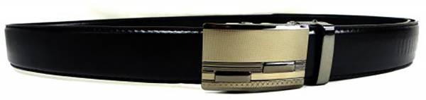 Automatik-Guertel silber schwarz Damen-Designer Herren-Business Automatik-Gürtel schwarz Man-Woman Belt-black 110cm 3061