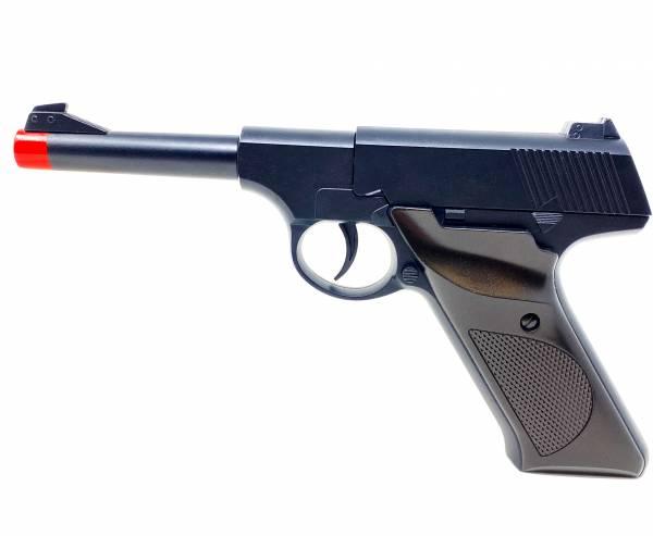 Softair-Pistole Metall Air Soft Gun Wehrmacht Federdruck Spielzeug W21 schwarz