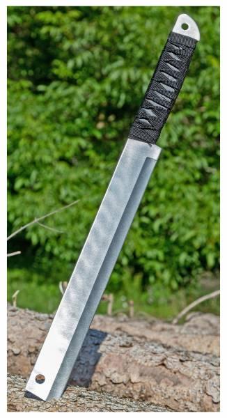 Outdoor Messer mit Holster Silber Taktisches Einhand-Messer Gürtel-Messer 46cm