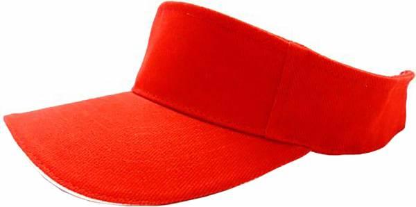 Herren Damen Sport Cap oben offen Schirm-Mütze rot