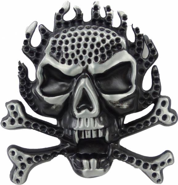 Gürtelschnalle Herren Damen Wechsel Guertelschallen Fire Skull Totenkopf Killer Koppel Gürtel Schnalle Black Metal Killer Buckle 1956