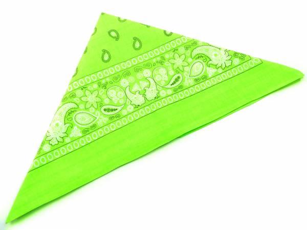 Nikituch 4654 Bandana Pali. Kopftuch Palesti. Scarf Halstuch Armband Zantana Nikituecher 56x56cm (neon green)