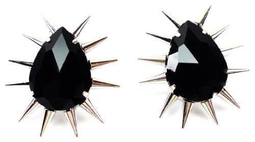 Ohrringe BlackKiller Nieten Ohr-ring 2 Stk, hochwertig geschliffener Killer BLACK
