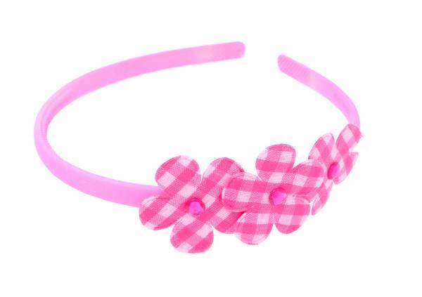 Kinder Damen Blumen Haarreif schmal neon Farben Pink
