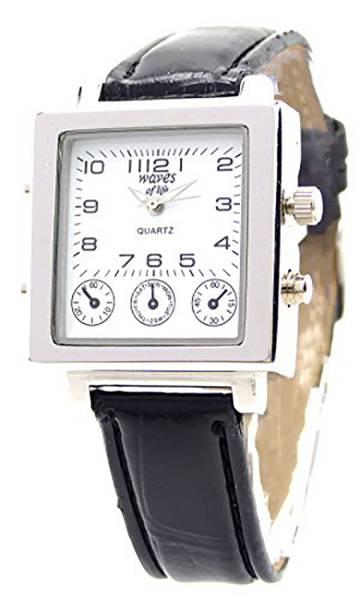 Herren-Uhr Damen-Uhren Leder-Armband schwarz elegant klassische Armband Uhr für Sie und Ihn Ox14