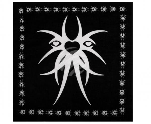 Herren Damen Halstuch Nickituch schwarz mit Motiv 54cm