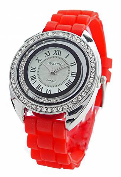 Damen-Uhr rot Strass Glamour Designer Lady Watch Armband-Uhren Damen Uhr Lady Watch Dunking RED