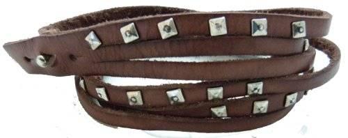 Echt Leder Armband mit Metallnieten besetzt