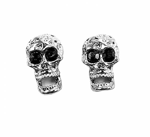 hochwertige Magnet Ohrringe 2 Stk, Top verarbeitet viele Modelle (silver-black)