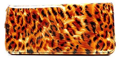 Tiger Portemonnaie braun Portemonee mit Tiger look Geldbörse Geldbeutel Tiger braun 20cm
