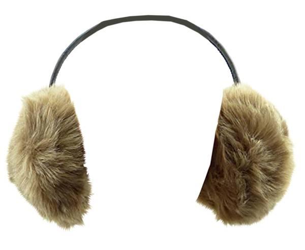 Ohrwärmer und Lautsprecher Kuschelig weich mit Fell (full fluffer brown)