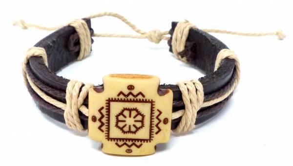 Armband Herren Damen Leder-Armbänder Handmade - Quattro