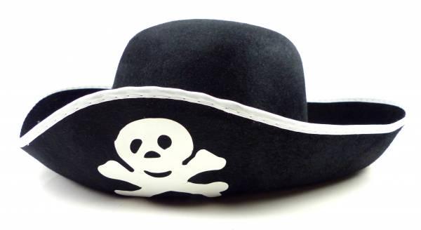 Piraten-Hut schwarz Herren Damen Kinder-Piraten-Hüte Totenkopf weiss