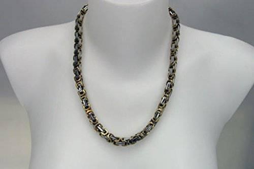 Halskette 4109 Koenigs-Kette Hals-Ketten, Königskette, 0,85cm, Silber-Gold
