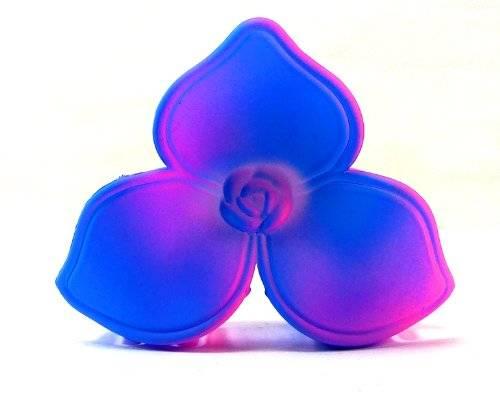 Blumen Neon Haarklammer bunte Neon Haarkralle viele Farben (blau)