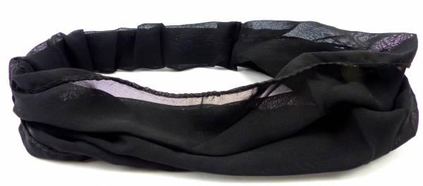 Haarband Haarreif Stoff-Maske schwarz Haarbaender Hair Ribbon black Haar Reifen (schwarz) 5028