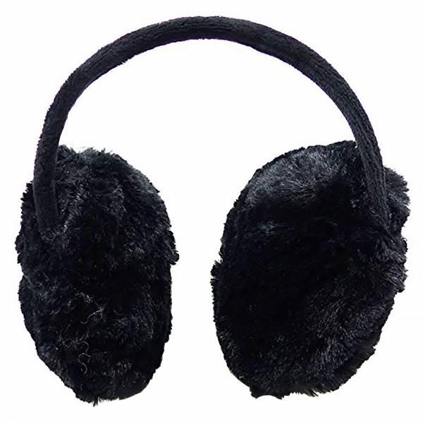 Ohrenschützer Kinder Erwachsene Earmuffs flauschig weich warm schwarz