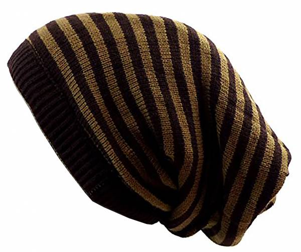 Herren Winter-Mütze Damen Wende-Mützen Loop-Schal Winter-Schals Rundschal Long-Beanie Cap Winter Edition (braun)
