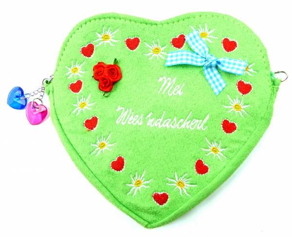 Tasche 4649 Trachtentasche Damen Dirndl Beutel Wisn Oktober Bag Fest Tasche Umhänge Tasche (green)