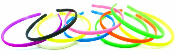 Haar-Reifen Set extra schmal viele Farben Haar-Spange bunt 10Stk Haar-Reif dünn 5162