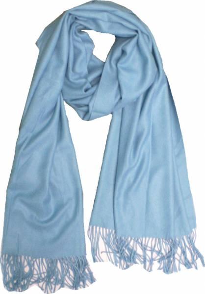 XXL Schal Herren Damen riesen Poncho / Schal einfarbig hell blau Herbst Winter Luxus Scarfs Deluxe Schals super weich soft (blue) 4760