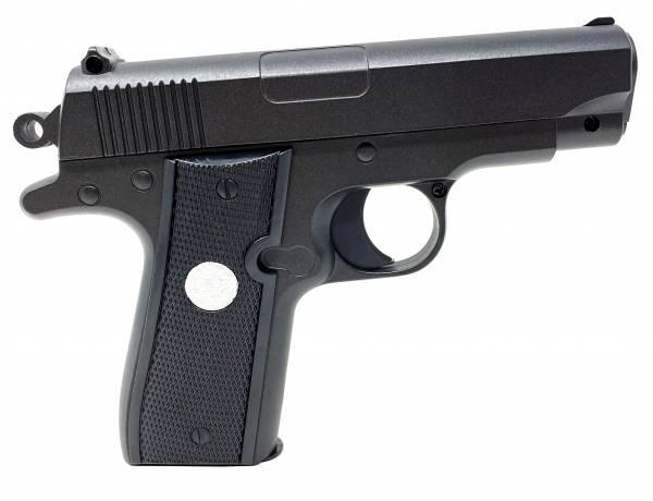 Softair Gun Airsoft Vollmetall P2 Federdruck Kids Toy Pistole 16,5cm 0,5 Joule