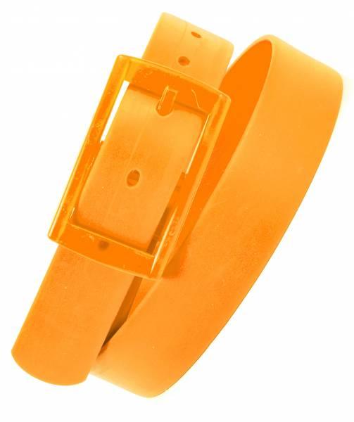 Fasching Karneval Gürtel Silikongürtel One Size 110cm Lang in Neon Orange