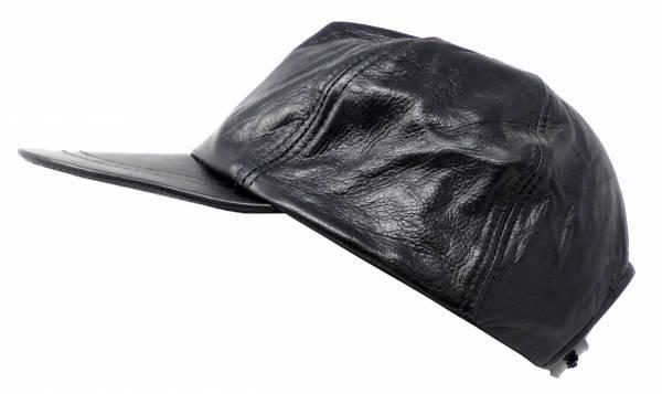 Herrenmütze Leder Cap alle Größen schwarz