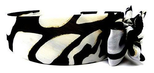 Haarreif 3972 Haar-Reifen mit Schleife samtigen Bezug Panda Gold H13