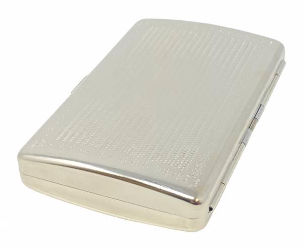 Premium Zigaretten-Etui Cigarette-Box Schachtel satiniert Silber-Farben