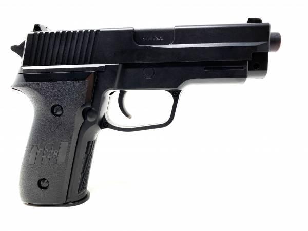 Softair Pistole Airsoft Gun Federdruck Pistole 19cm P24K Inkl Magazin 0,49 Joule