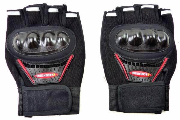 Handschuhe 4450 Faeustlinge 2Stk Gelenk Schutz Fahrrad Hand-Schuhe Biker Hand-gloves Sporthandschuh (schwarz)