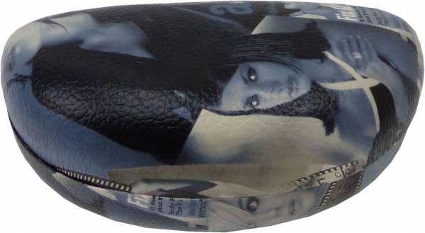 Etui Brillen-Etui Brillen Box Damen Brille Herren Brille Schatulle (silber) 4378
