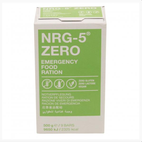 9x Tracking Prepper Survival Food Notverpflegung NRG 5ZERO 500g 15 Jahre haltbar