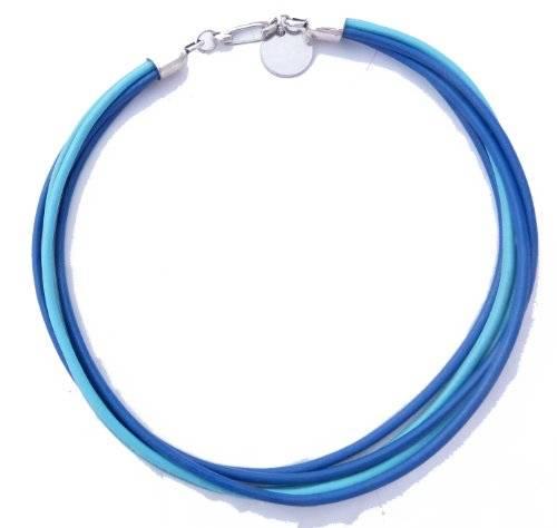 Armband 1697 Halsband mit großen Karabinerverschluss (blau2)