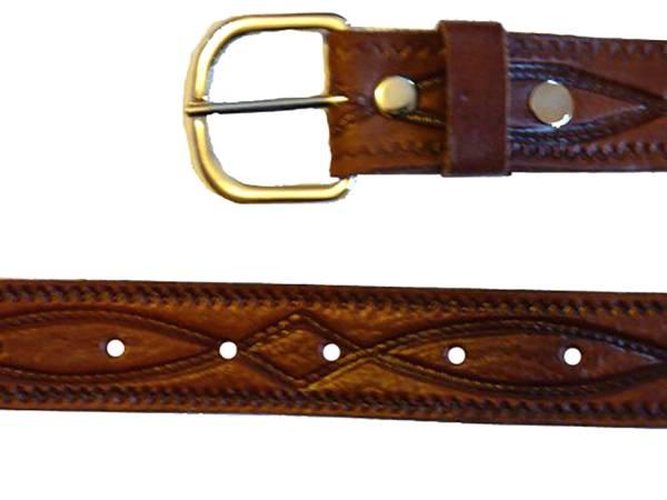 echt Ledergürtel Übergröße 120cm - 185cm (130cm)