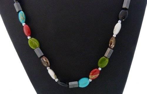 magnetische Halskette oder Aarmband viele Farben (bunt-Stein)