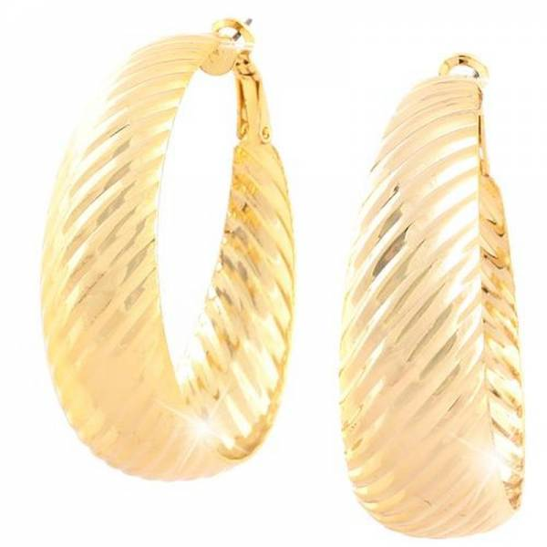 Creolen Damen XL-Ohrringe gold Creolen Set 4,5cm Designer Schmuck 2Stk Ceolen Stecker