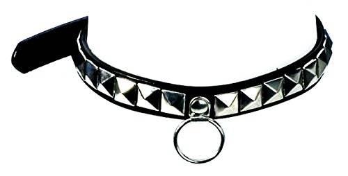viele Gothic Punk Nieten-Halsband 2642 Pyramidennieten Halsbänder mit Leinen Ring U4,5-X (1 Reihe)