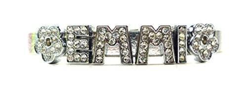 viele Damen Designer Armbänder mit schönen Strass Buchstaben EMMI (silber)